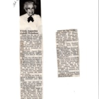 Obituary for Frieda Weisshaar